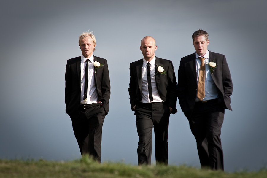 Pete and the Best Men photographed before the wedding