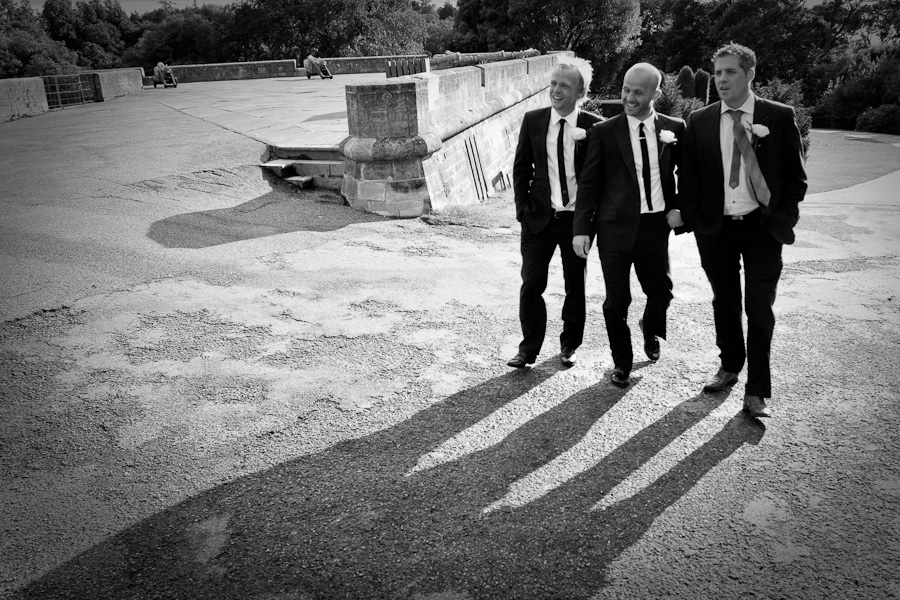 Pete and Best Men before the wedding